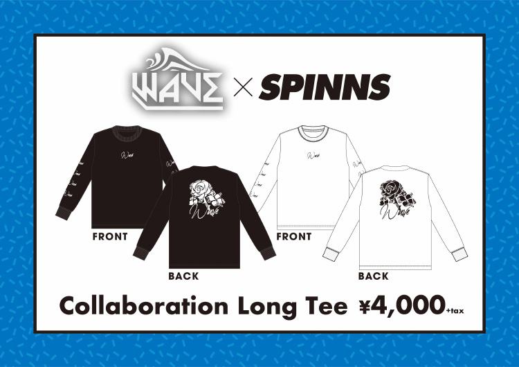 WAVE×SPINNS  Collaboration Long Tee