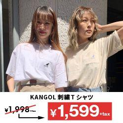 KANGOL刺繍Tシャツ